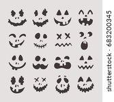happy halloween teeth  set of... | Shutterstock .eps vector #683200345