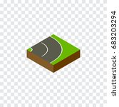 isolated road isometric.... | Shutterstock .eps vector #683203294