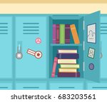 colorful illustration featuring ... | Shutterstock .eps vector #683203561