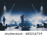 music band   group silhouette... | Shutterstock . vector #683216719
