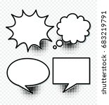 comic speech bubbles and... | Shutterstock .eps vector #683219791