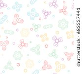 seamless pattern with fidget... | Shutterstock .eps vector #683227441