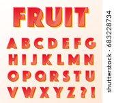 vector graphic alphabet  with... | Shutterstock .eps vector #683228734