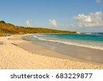 view of half moon bay beach in  ... | Shutterstock . vector #683229877