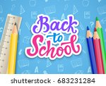 back to school banner template... | Shutterstock .eps vector #683231284