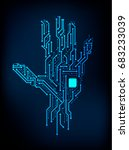 abstract electronics hand... | Shutterstock .eps vector #683233039