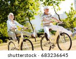 funny elderly people enjoying... | Shutterstock . vector #683236645
