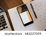 mobile phones are used for... | Shutterstock . vector #683237059