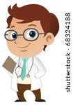 cute little male doctor  ...   Shutterstock . vector #68324188