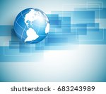 background with globe ... | Shutterstock . vector #683243989