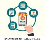 start to create web shopping... | Shutterstock .eps vector #683244181