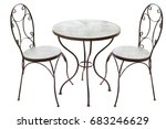 Old Steel Table And Chairs...