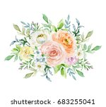 painted watercolor composition... | Shutterstock . vector #683255041