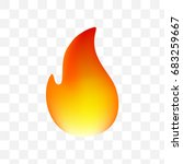 fire emoticon on transparent... | Shutterstock .eps vector #683259667