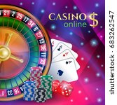 casino banner with gambling... | Shutterstock .eps vector #683262547