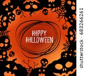 halloween  backgrounds vector | Shutterstock .eps vector #683266261