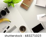 top down view of a business... | Shutterstock . vector #683271025