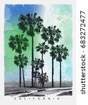 photo print california beach...   Shutterstock . vector #683272477