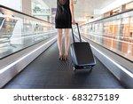 elegant woman is holding her... | Shutterstock . vector #683275189