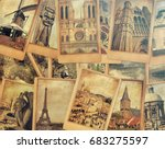 Vintage Photo Cards Collage On...
