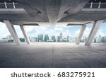 rooftop modern building with... | Shutterstock . vector #683275921