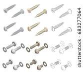 screws washers hardware... | Shutterstock .eps vector #683277064