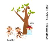 opposite sick and healthy... | Shutterstock .eps vector #683277559