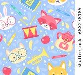 school seamless pattern for...   Shutterstock .eps vector #683278189