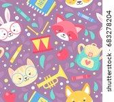school seamless pattern for... | Shutterstock .eps vector #683278204