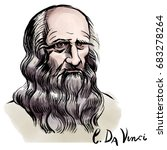 vector hand drawn watercolor... | Shutterstock .eps vector #683278264