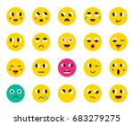 set of emoticons or emoji.... | Shutterstock . vector #683279275