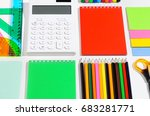 school accessories  books and... | Shutterstock . vector #683281771