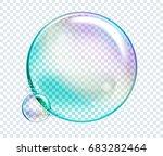 raster rainbow water bubbles.... | Shutterstock . vector #683282464