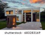 big modern beautiful house | Shutterstock . vector #683283169