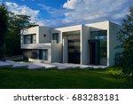 big modern beautiful house | Shutterstock . vector #683283181