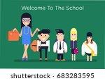 cool vector character... | Shutterstock .eps vector #683283595