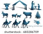 nativity scene elements | Shutterstock .eps vector #683286709