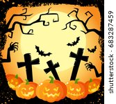 halloween banner  poster ... | Shutterstock .eps vector #683287459