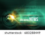 graphical breaking news... | Shutterstock . vector #683288449