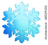 3d blue illustrated snowflake | Shutterstock . vector #68329102