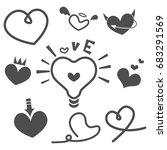 vector illustration of heart...   Shutterstock .eps vector #683291569