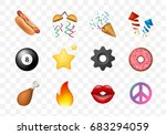 12 emoticon on white background.... | Shutterstock .eps vector #683294059