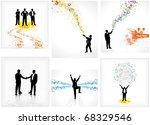 set of backdrops depicting... | Shutterstock . vector #68329546