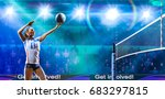female professional volleyball... | Shutterstock . vector #683297815