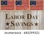 labor day savings message  usa... | Shutterstock . vector #683299321