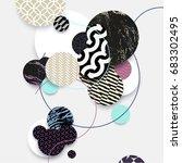 abstract modern geometric...   Shutterstock .eps vector #683302495