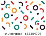 circle dots and line pattern... | Shutterstock .eps vector #683304709