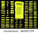 painted grunge stripes set.... | Shutterstock .eps vector #683307199
