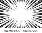 sun rays for comic books radial ... | Shutterstock . vector #683307901