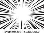 sun rays for comic books radial ... | Shutterstock . vector #683308069